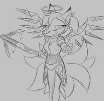 Kitsune Mercy by W0lfmare