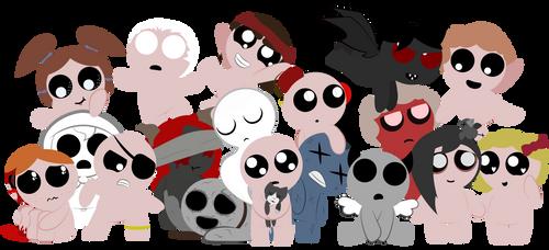 The TBOI Family by HootisPootis