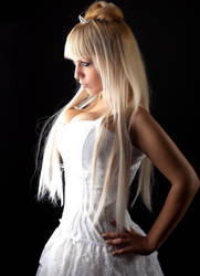 White Gothic Princess Stock by tanit-isis-stock