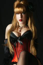 Tanit-Isis Red Burlesque IX by tanit-isis-stock