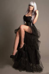Black Gown II by tanit-isis-stock