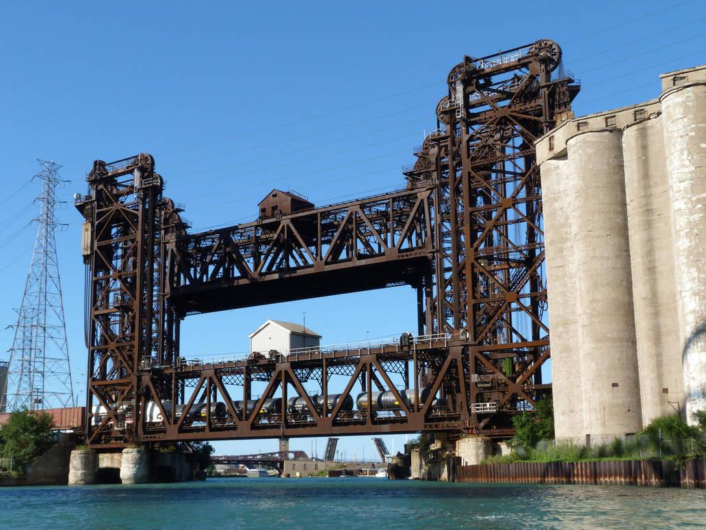 Calumet River Norfolk Southern Railroad Bridge 2 by historicbridges