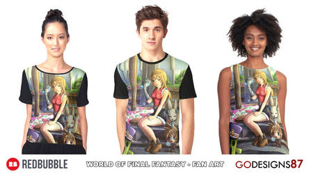 07 REDBUBBLE World of Final Fantasy - Fan Art by GODesigns87