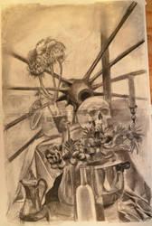 skull and thistles by mojopony