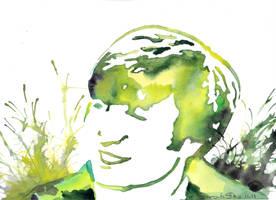 John by watercolors by Sarah-Sky