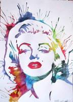 Marilyn Monroe by Sarah-Sky
