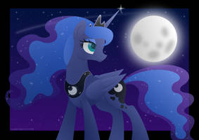Princess of the Moon (Speed-paint Included!) by LavenderRain24