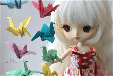 Paper Cranes by yu-hime