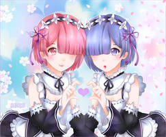 Ram and Rem by Hachiiru