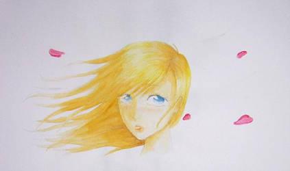 Jeune fille au vent by Ellana7125