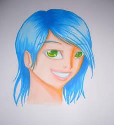Blue girl by Ellana7125