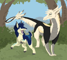 Com: Senraikin and Jake by katribou