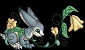 Teak flower pixel by embea