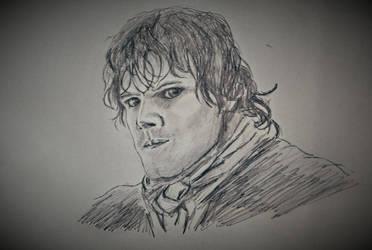 Jamie Fraser (Sam Heughan)  Outlander by melzilla