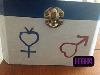 Hand Painted Sailor Moon Box: Side #1 by Dreja24