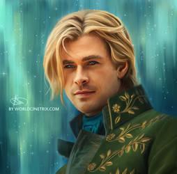 Thor as a Disney Prince by cinetrix