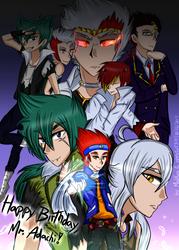 Happy Birthday Mr. Adachi!- Collab with MadKuroi by appletart370