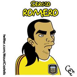 Sergio Romero (simpsonizado) by mauriart