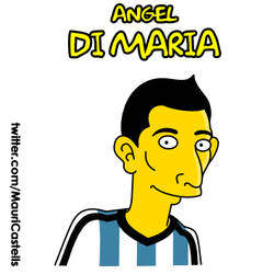 Angel Di-Maria (simpsonized) by mauriart