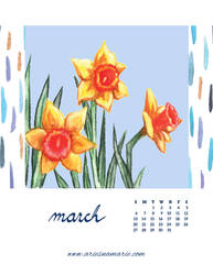 March: Daffodil by AriesNamarie