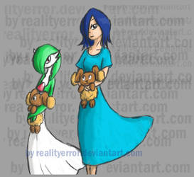 Rukia gardevoir and 2buneary by realityerror
