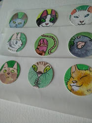 CAT STICKAS! by vivadawolf
