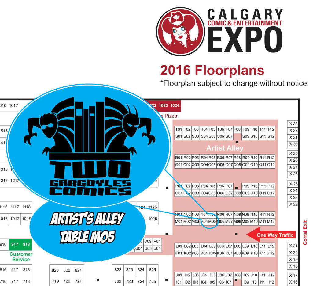Calgary Expo 2016 Floorplan by twogargs