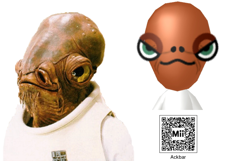 Nintendo Mii Admiral Ackbar By Supercaptainn On Deviantart