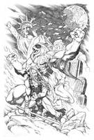 He is Thundarr, the Barbarian by AllanOtero