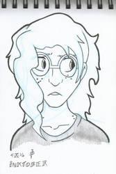 Inktober #04 - Claire by redknifewielder