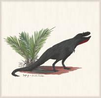 Deinodon horridus w/ Nypa sp. palm by MattMart