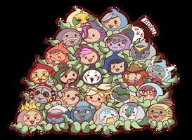 Pachimari Overwatch heroes by RozuPandy