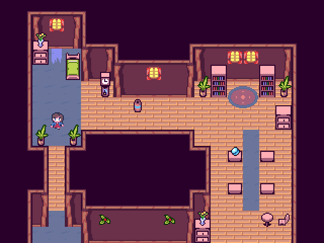 Pixel House Interior by OceansDream