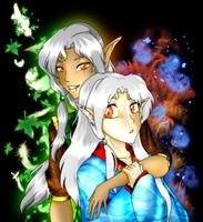 Laeril Nobles Tathfryn and Neydelene Auvryarn by MagickDream