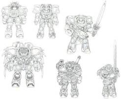 My Warhammer 40k Space Marines by shiar