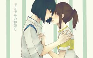 Spirited Away: Haku x Chihiro by sheepsgobaaa