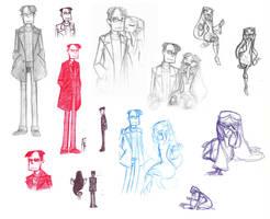 Sasha and Milla Sketch Dump by HailleyPete