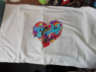 Finished 2 - Rainbow Dash Pillowcase by MagicalJoey