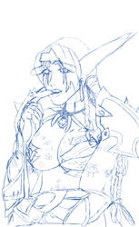 Riverstar (Rough Sketch that was also a warm up) by FallingHorseGallery