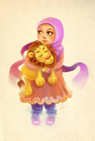 with her lion by ambientdream