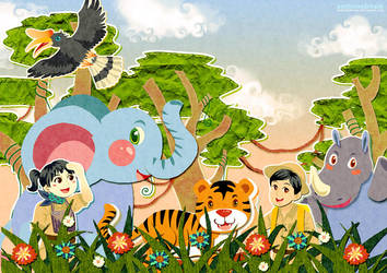 happy animal land by ambientdream