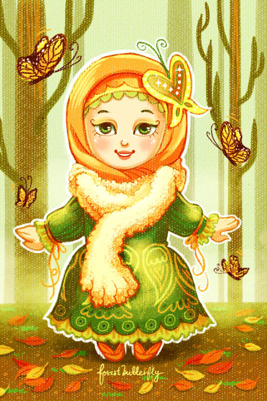 NatureHijabi 2 - forestbutterfly by ambientdream