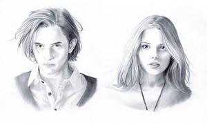 A-J portraits by nami64
