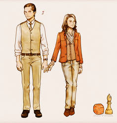 Arthur and Ariadne - INCEPTION by nami64