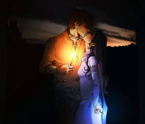 LUMOS - Rowena and Godric by nami64
