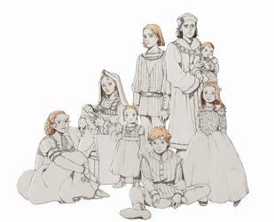 Tudor Family Portrait - AU by nami64