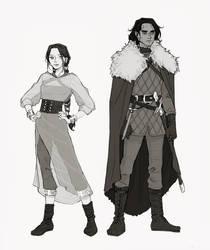AU asoiaf - Lyanna and Arthur by nami64