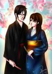 Commission Zara and Sebastian in kimonos by PuniNeko-Chan