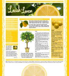 Lavish Lemon Template by VelvetElvisDesign
