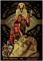 Hellboy - Egyptian Ruins Coloring by DougGarbark